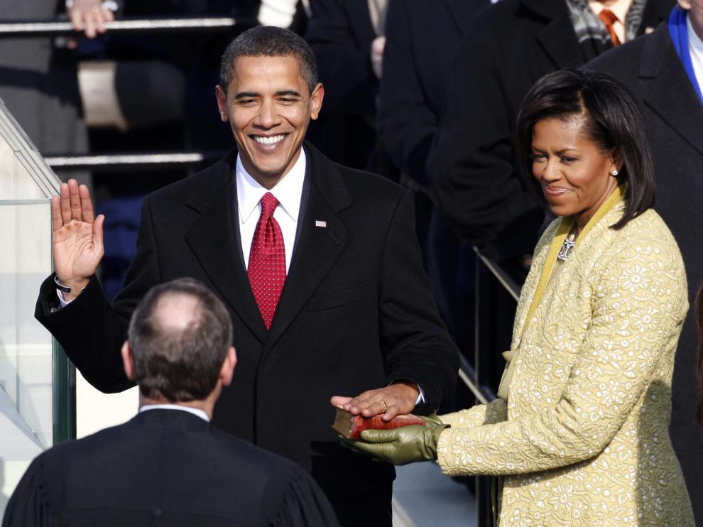 Obama jurando su cargo