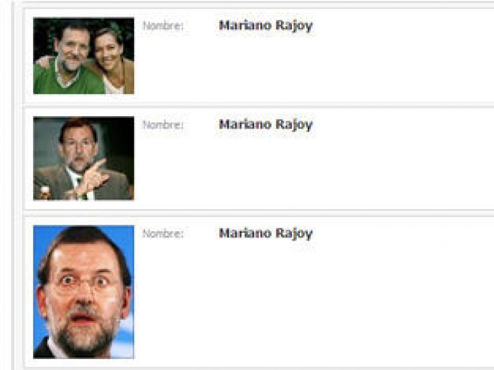 Falsos perfiles de Rajoy en la red social