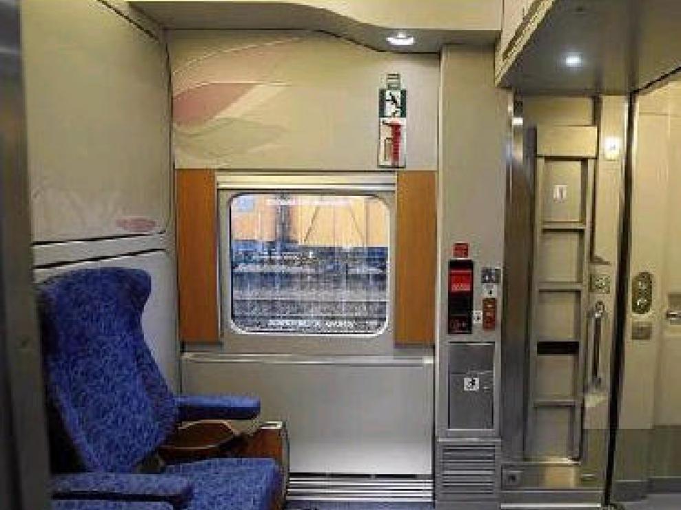 Imagen de uno de los habitáculos del nuevo Trenhotel, que pasará por Zaragoza