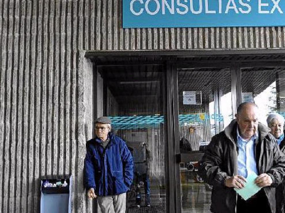 Imagen de una de las entradas a consultas externas en el Hospital Ernest Lluch de Calatayud