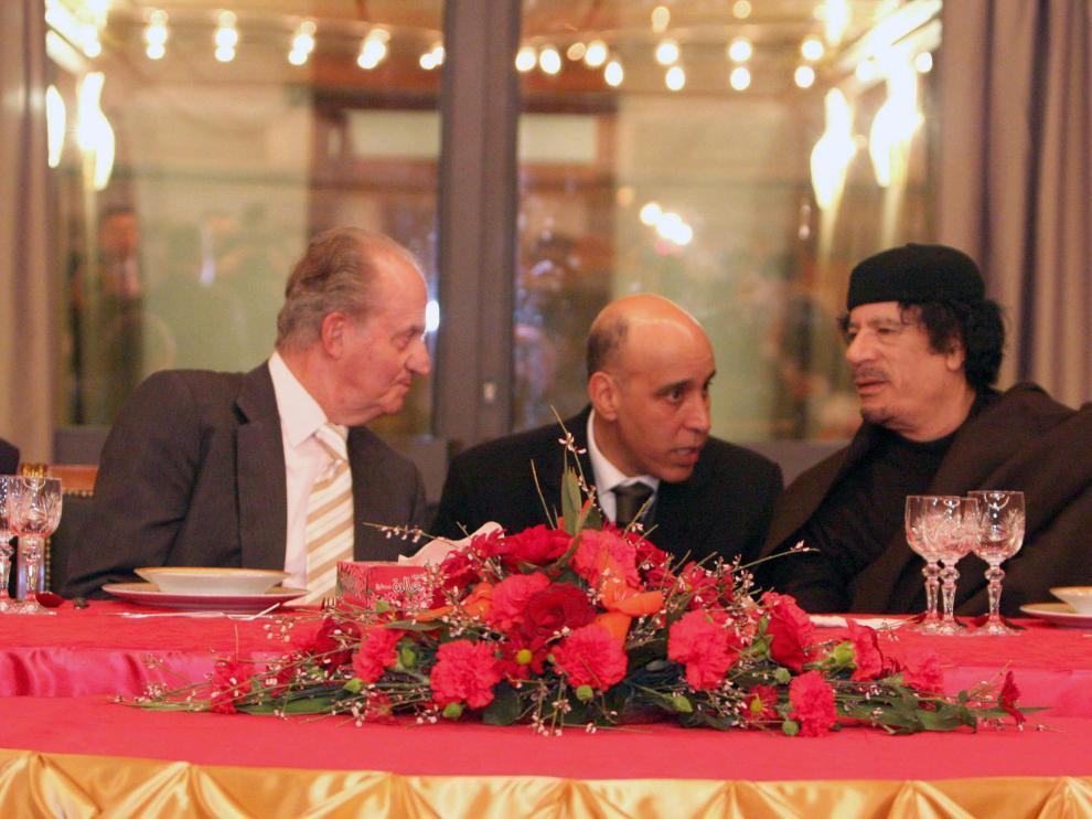 El Rey y el líder libio