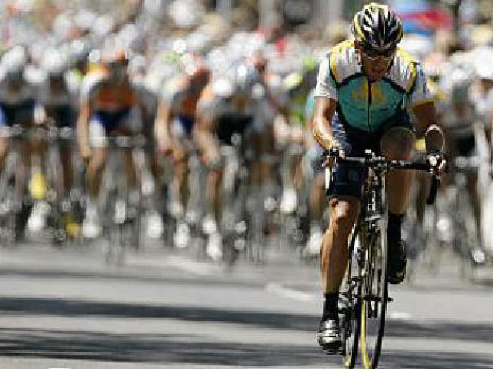 Lance Armstrong, durante la disputa del Tour Down Under.