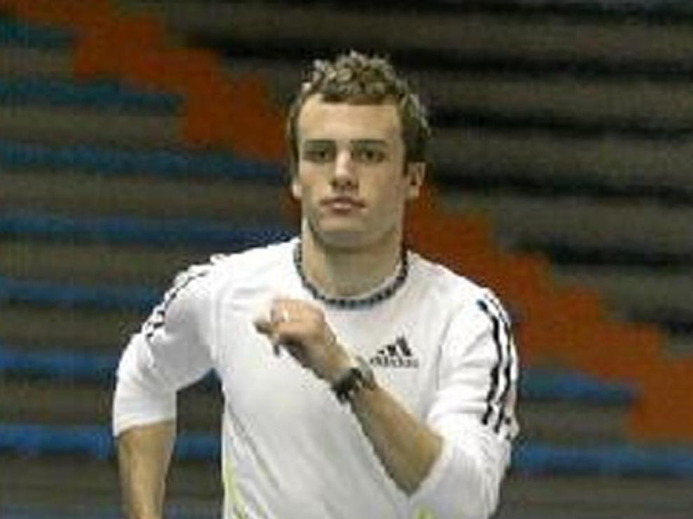 Alberto Gavaldá, en un entrenamiento en el Huevo.