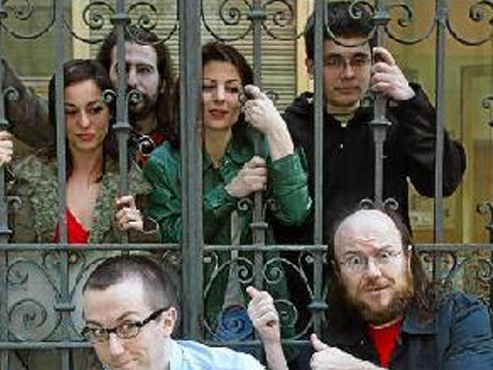 El equipo de 'Una de zombis', con Lamata y Segura al frente.