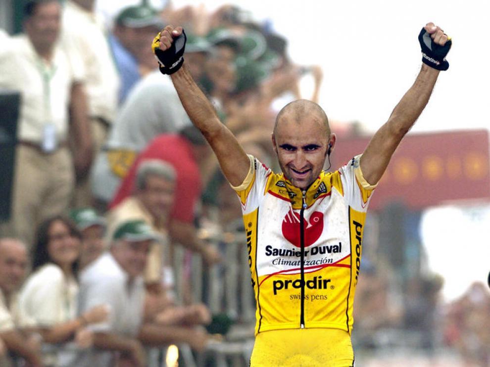 El corredor italiano del Saunier Duval, Leonarado Piepoli
