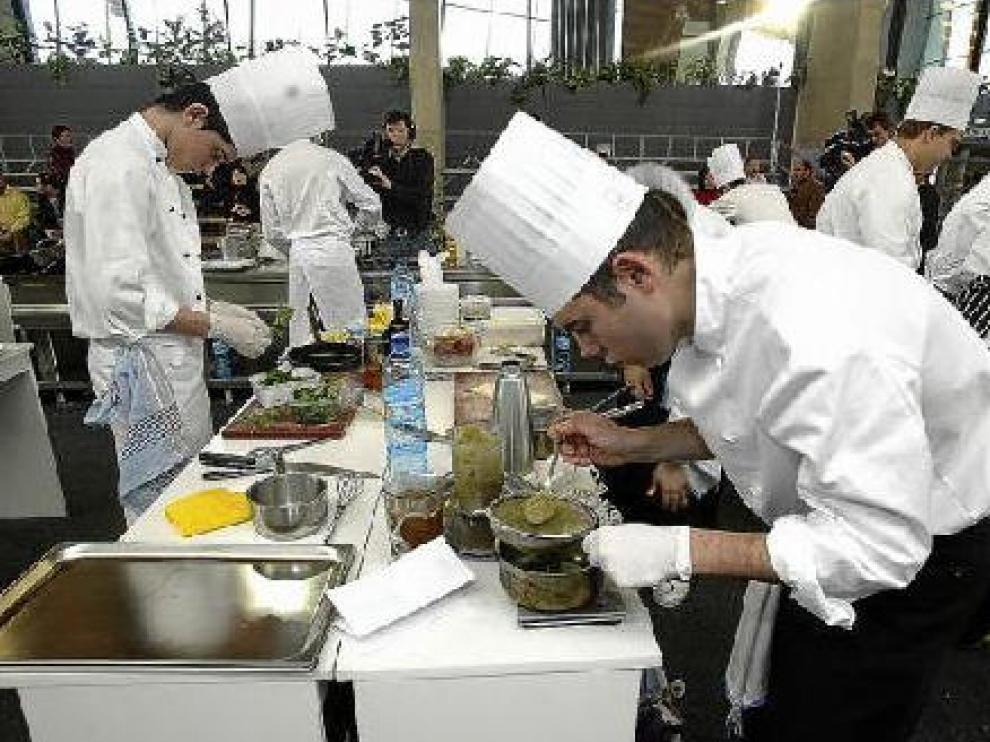 Cocineros participantes en el concurso de la edición del año pasado.