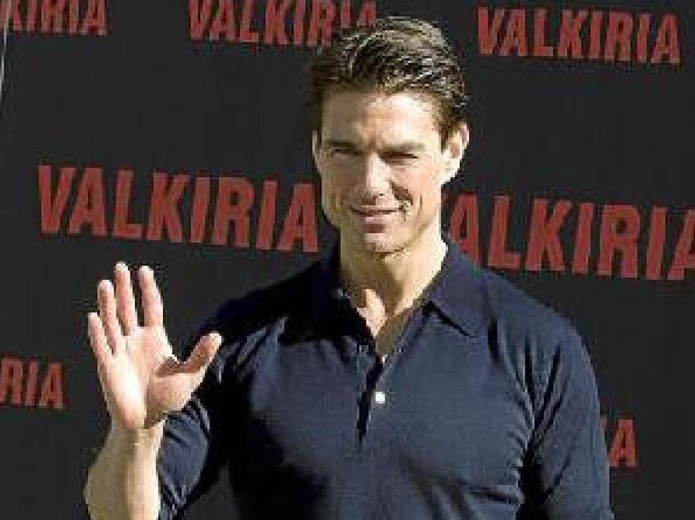 Tom Cruise, ayer, en Madrid donde habló de 'Valkiria'.