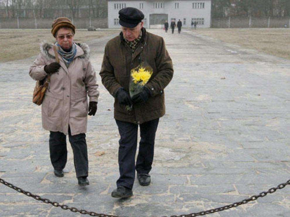 Homenaje a las víctimas en Sachsenhausen
