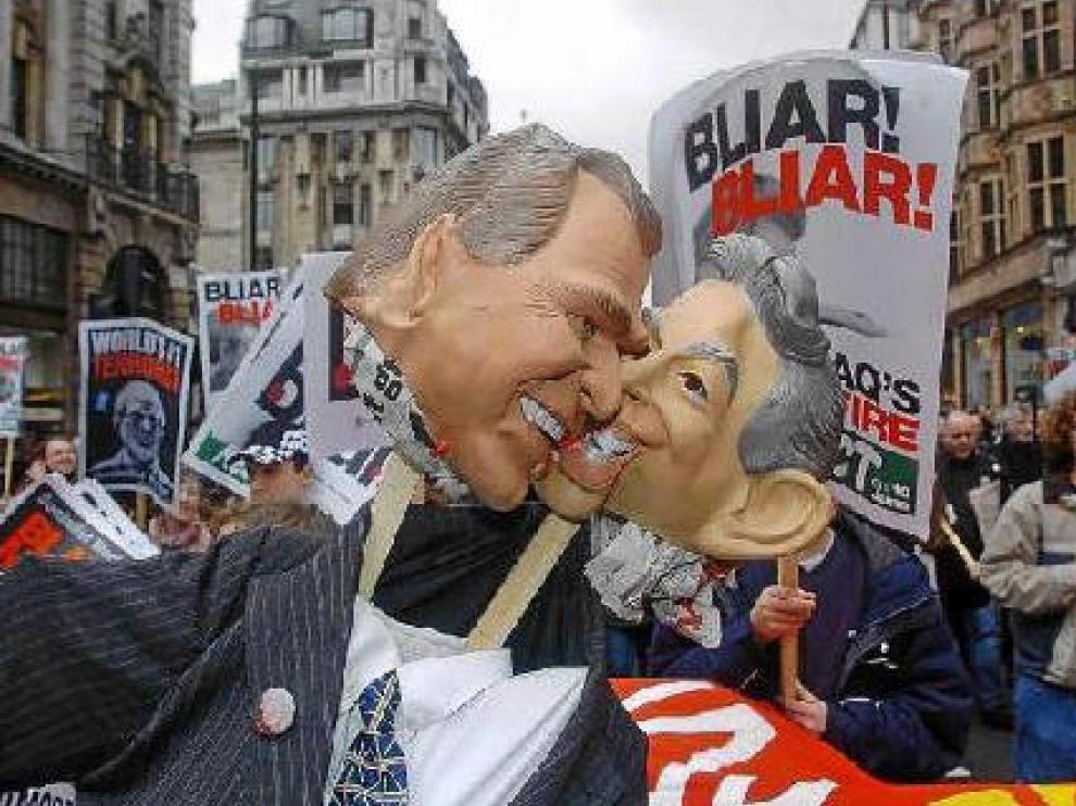 Manifestación contra la guerra de Iraq por el centro de Londres, en marzo de 2004.