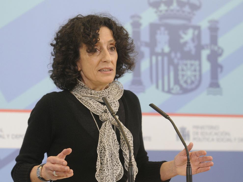La ministra Cabrera