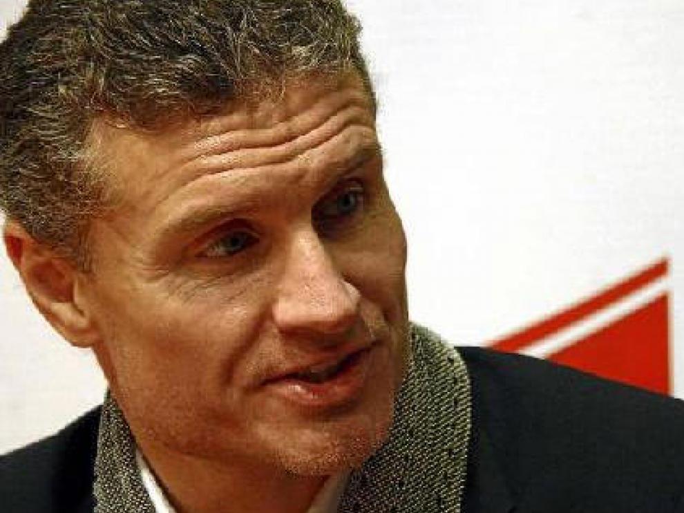 David Coulthard durante la entrevista concedida a HERALDO en la mañana de ayer.