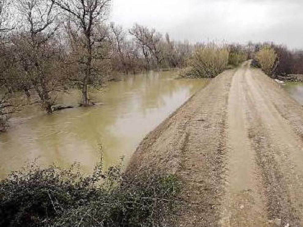 La mota de Villafranca ya está reparada. La CHE concluyó ayer al mediodía el arreglo del dique de Villafranca, en el que un tejón abrió un agujero por el que se colaba el agua del río.