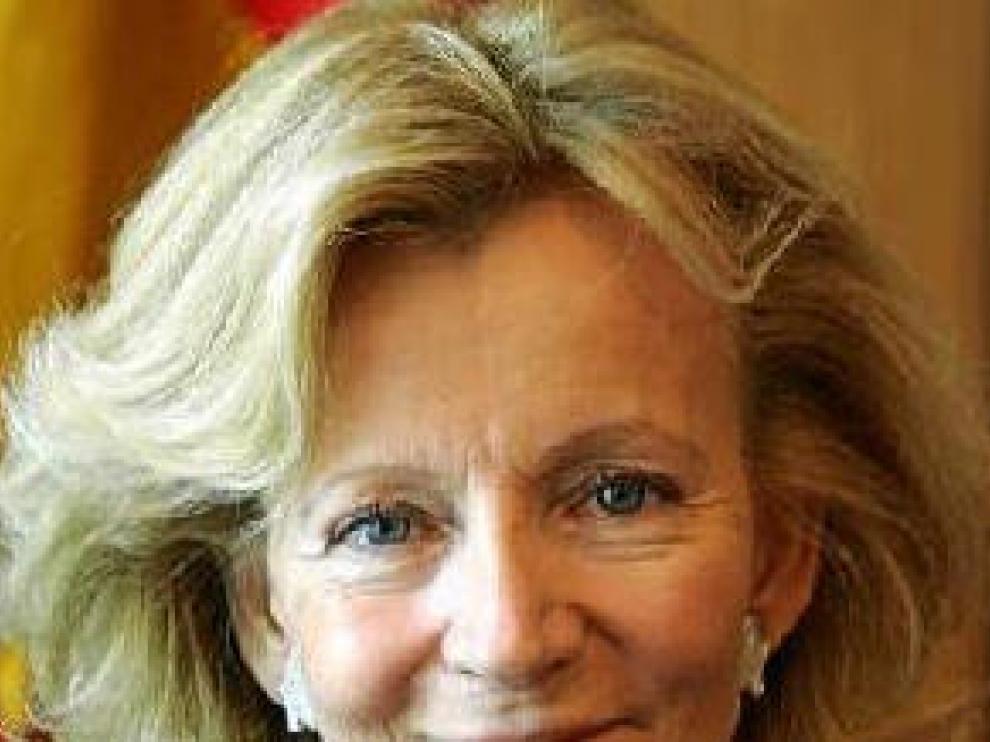 La ministra de Administraciones Públicas, Elena Salgado.