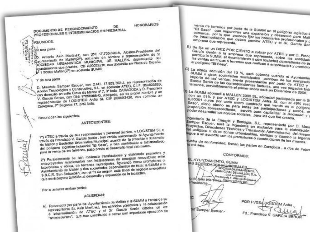 El documento fue firmado por el alcalde de Mallén