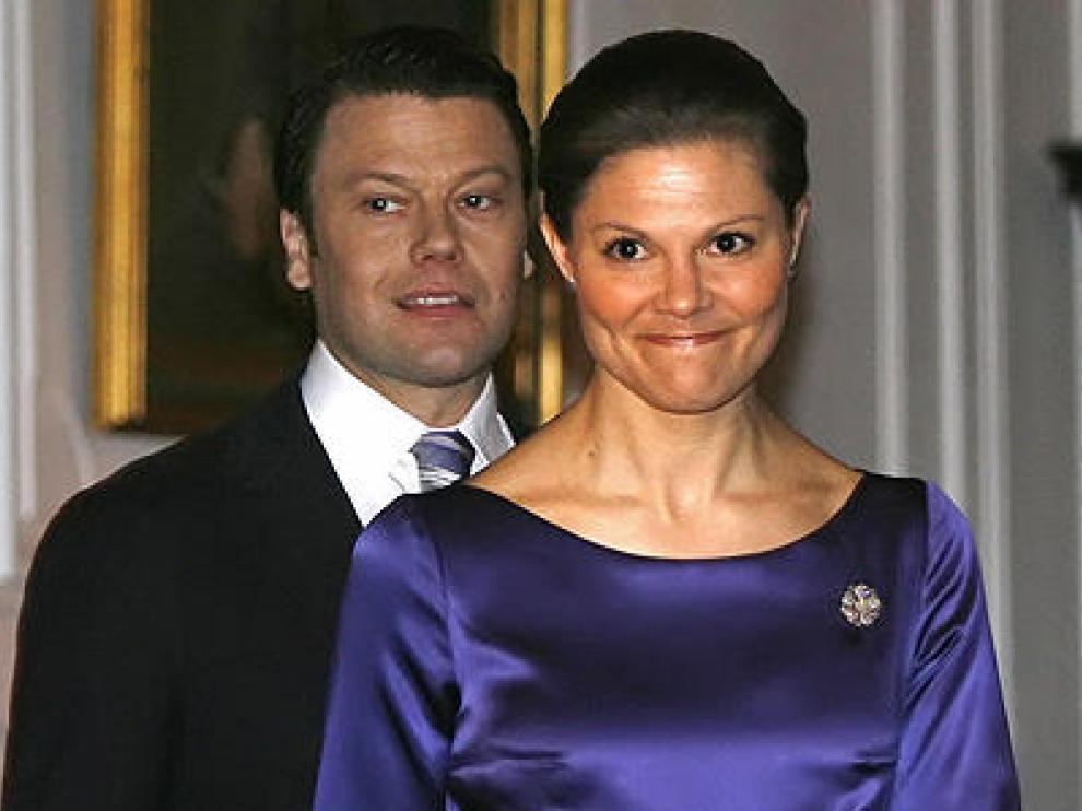 La primogénita de la Casa Real de Suecia junto a su marido.