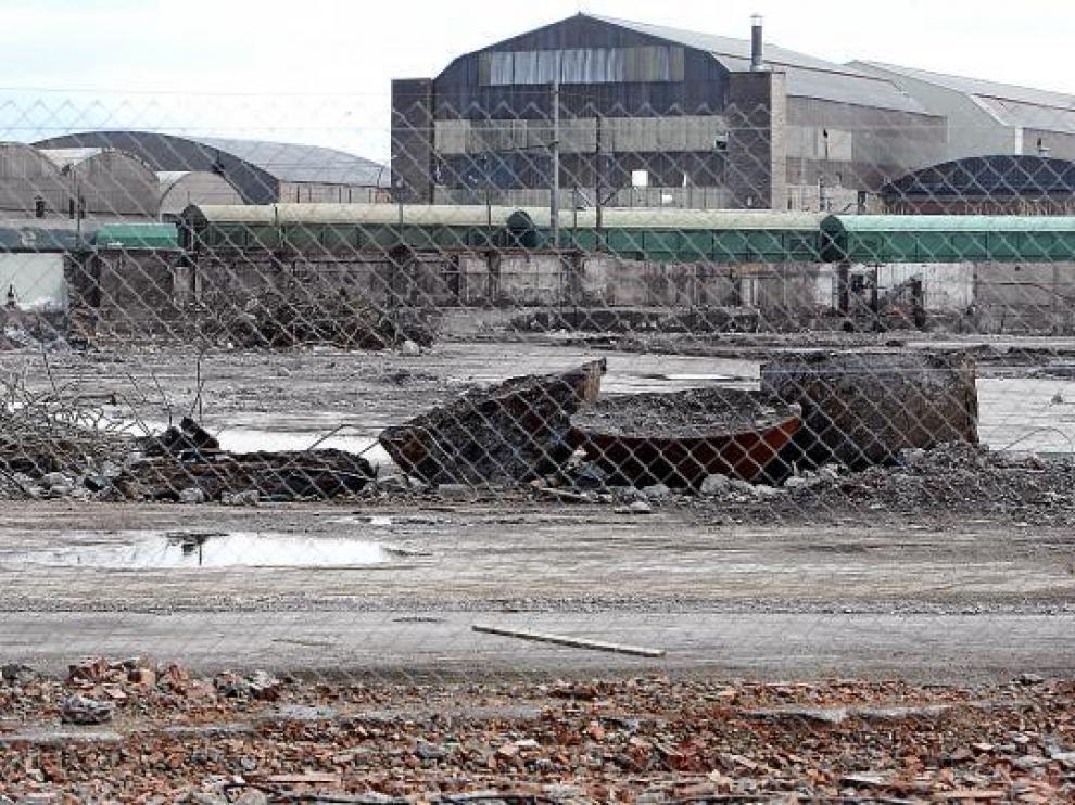 Imagen de los terrenos afectados por el polémico convenio de Aceralia.