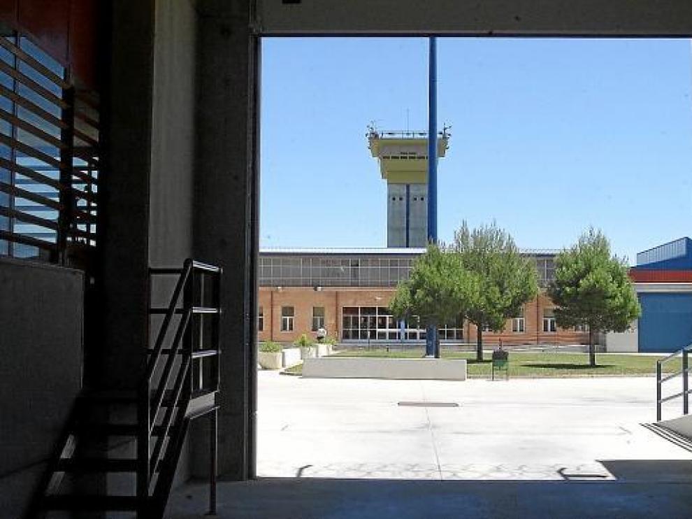 Interior del centro penitenciario de Zuera.
