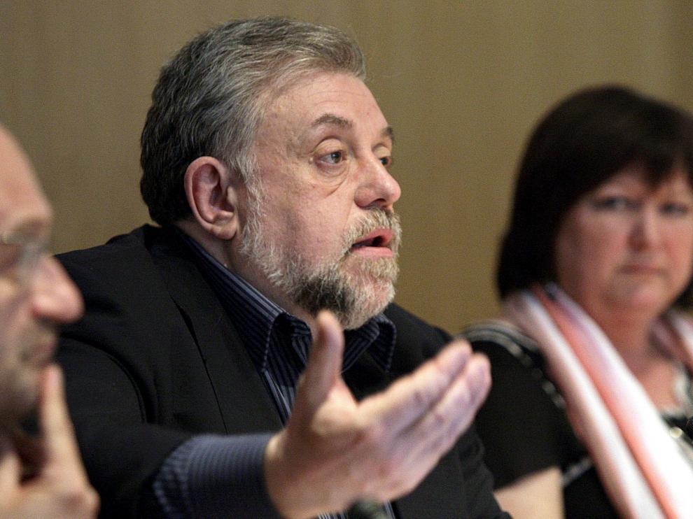 Imagen de la conferencia del secretario de Estado para la Seguridad Social