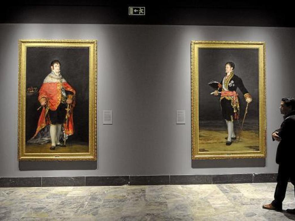 Los retratos goyescos del rey Fernando VII y el duque de San Carlos, en el Museo de Zaragoza.