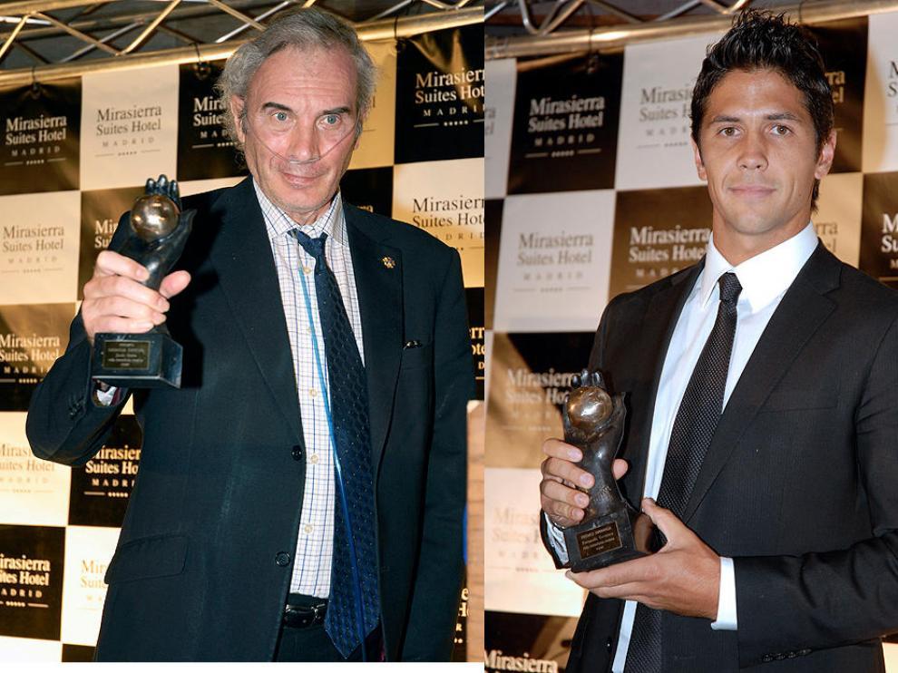 Jesús Neira (i) y Fernando Verdasco (d), 'Premios Naranja' de la prensa