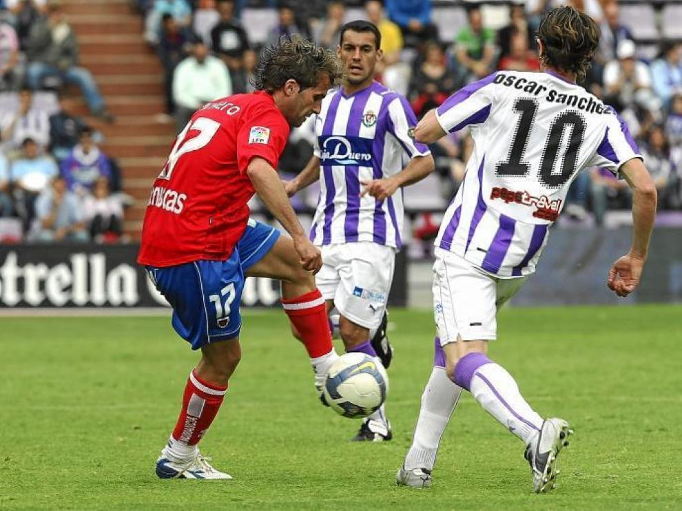 Imagen del partido entre Numancia y Valladolid. Ambos conjuntos luchan aún por la permanencia en Primera División.