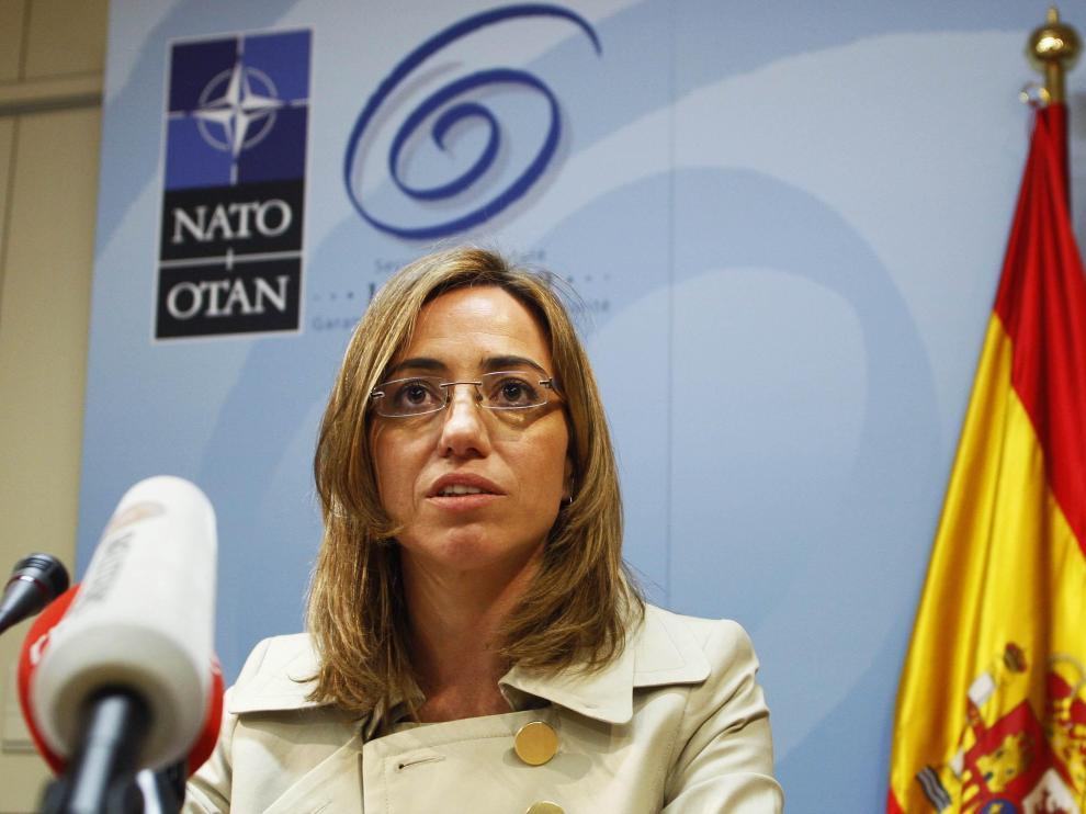 La ministra de Defensa Carme Chacón