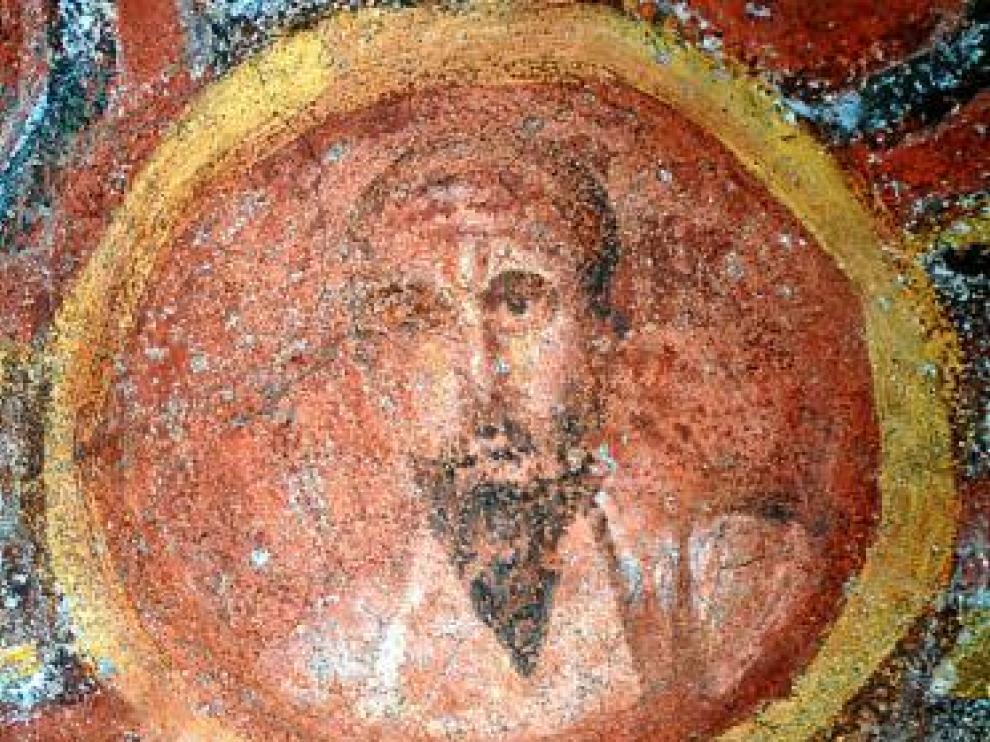 El fresco de San Pablo hallado en las catacumbas de Santa Tecla.
