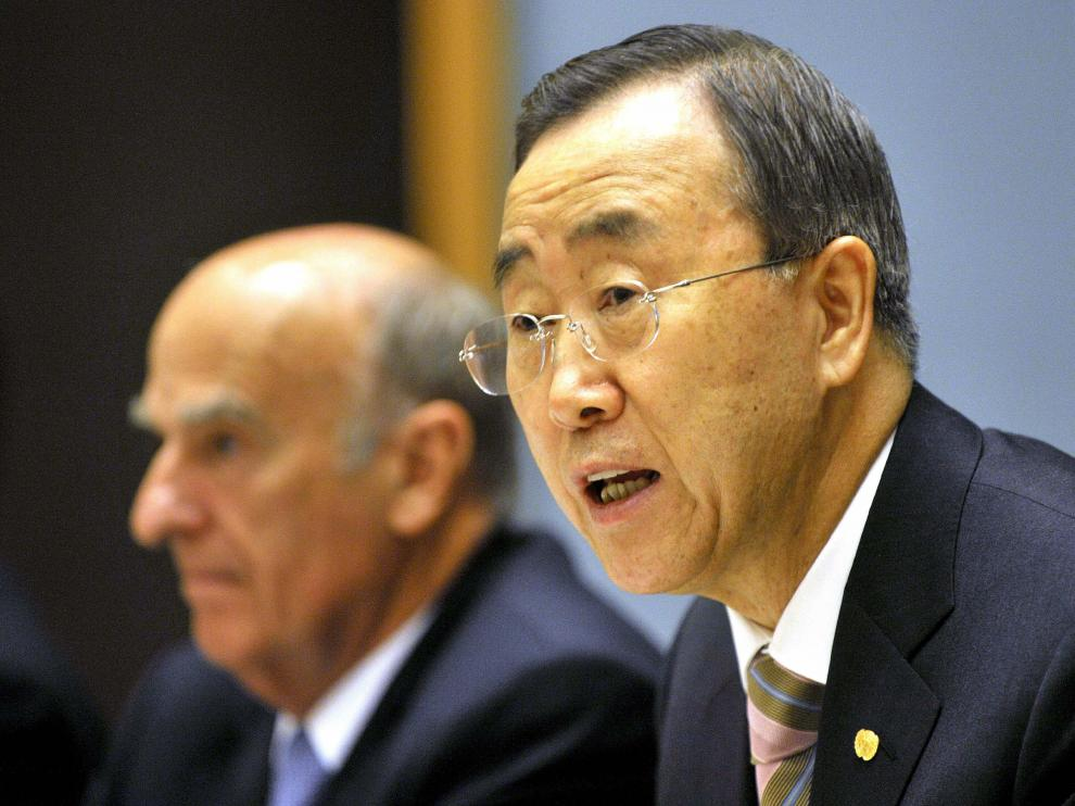 El secretario general de la ONU, Ban Ki Moon