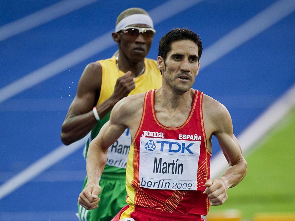 Eliseo Martín, durante la carrera