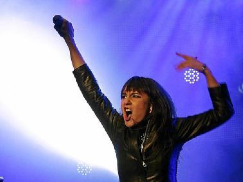Eva Amaral, durante una actuación de 'Gato negro. Dragón rojo'.