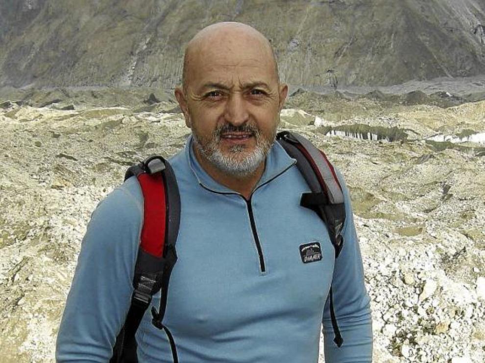 Sebastián Álvaro, en el glaciar Baltoro.