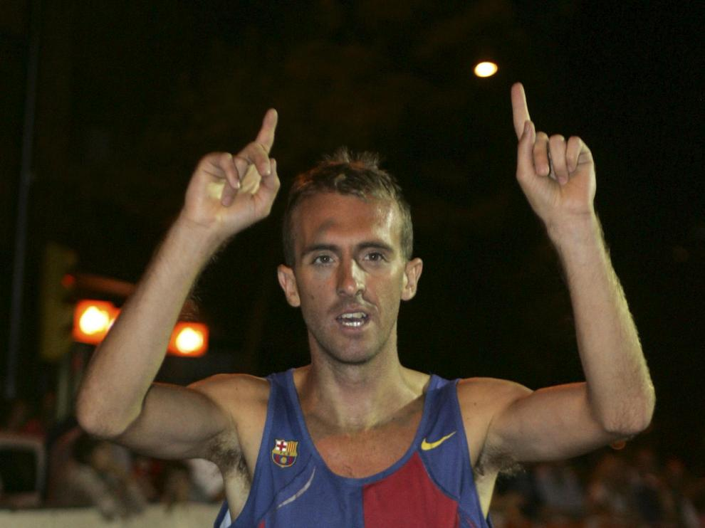 Sergio Sánchez celebra su victoria