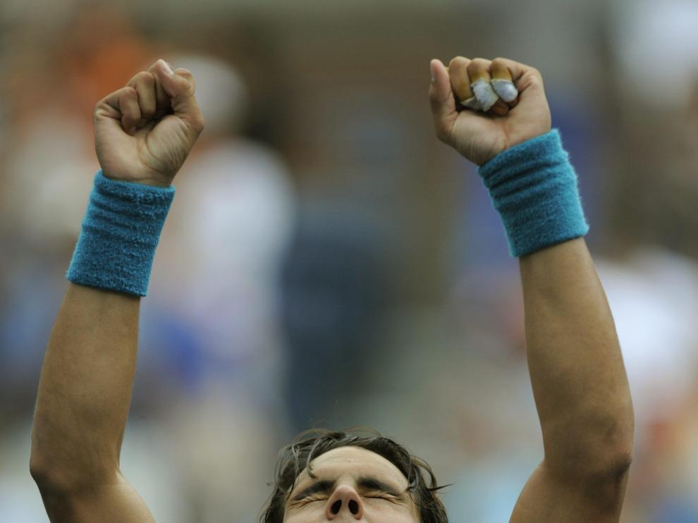 Rafa Nadal celebra la victoria