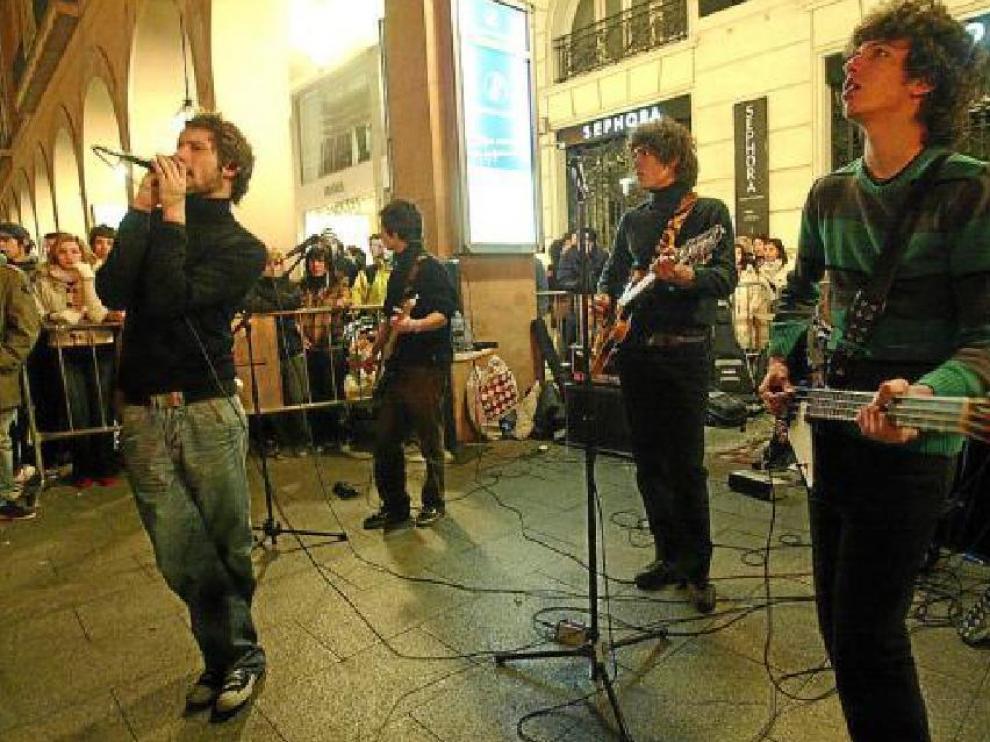 El Roscón Rock, protesta anual de los grupos zaragozanos en demanda de más lugares para tocar.