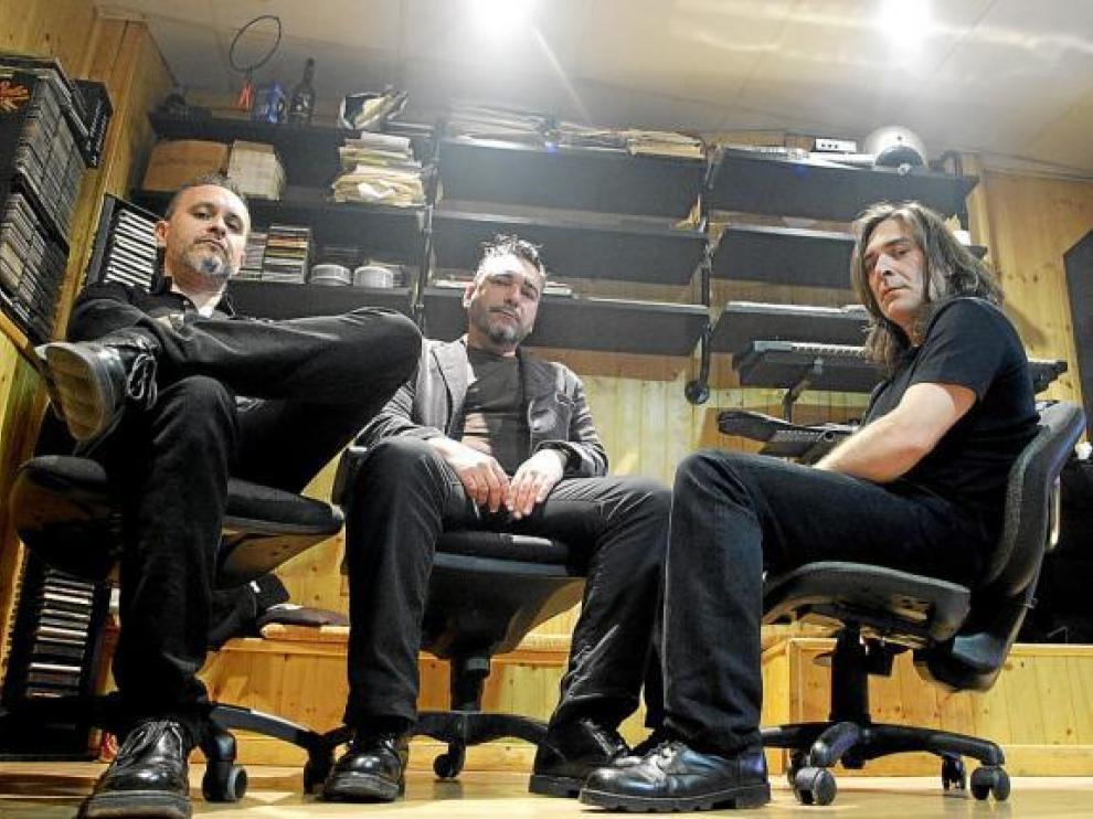 Leza, Díez y García (falta Til), en el estudio Atmósfera de Nacho Serrano, el pasado mes de mayo.