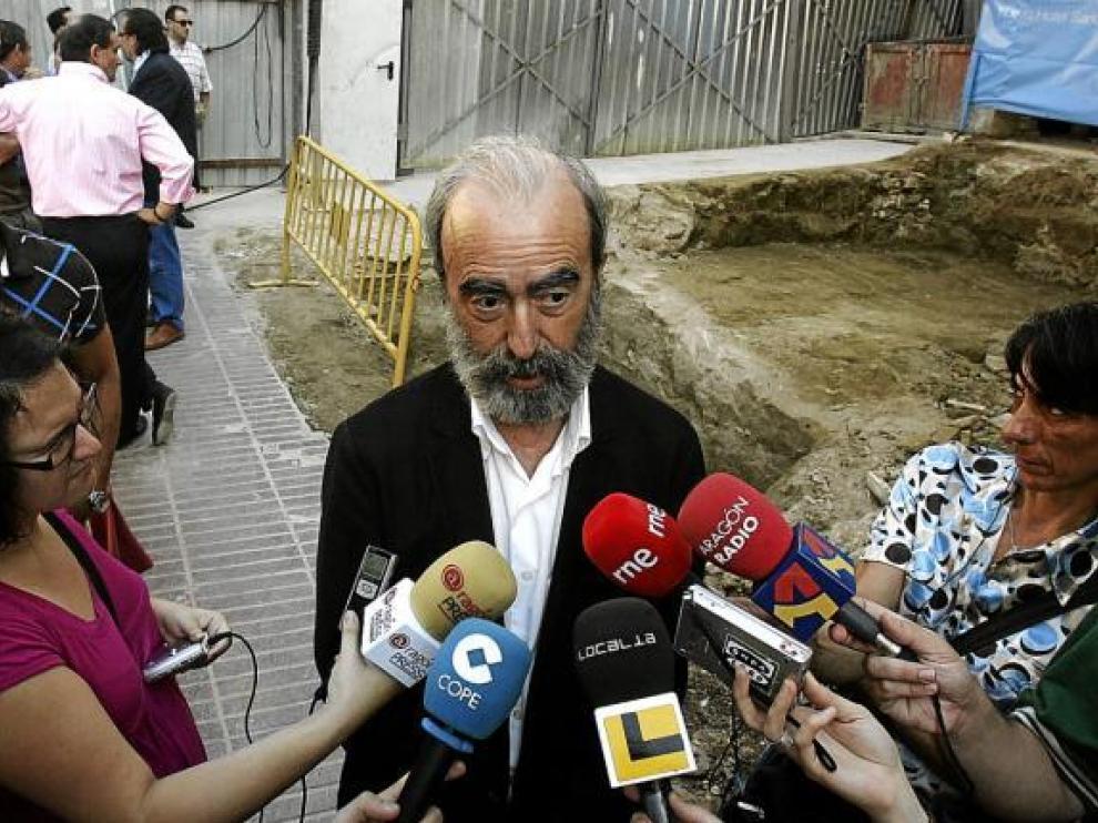 Fernando Elboj se pronunció ayer sobre el caso en la visita a unas obras.