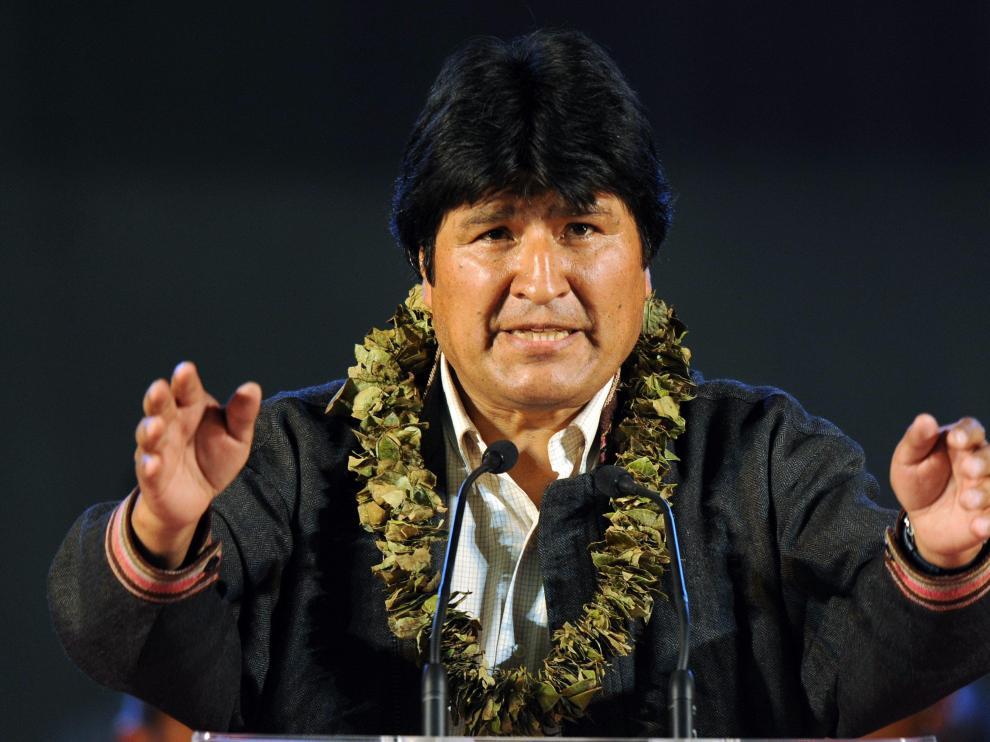 Lo primero que hizo Evo Morales al llegar a España es encontrarse en Leganés con sus paisanos, cuando faltan tres meses para presentarse a la reelección como presidente.