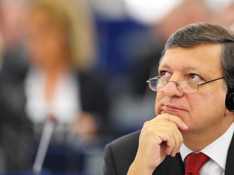 El presidente de la Comisión Europea, el portugués Jose Manuel Durão Barroso, asiste a una sesión del Parlamento Europeo