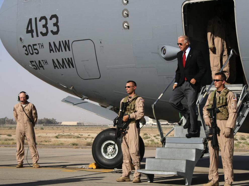 Biden, a su llegada a Bagdad