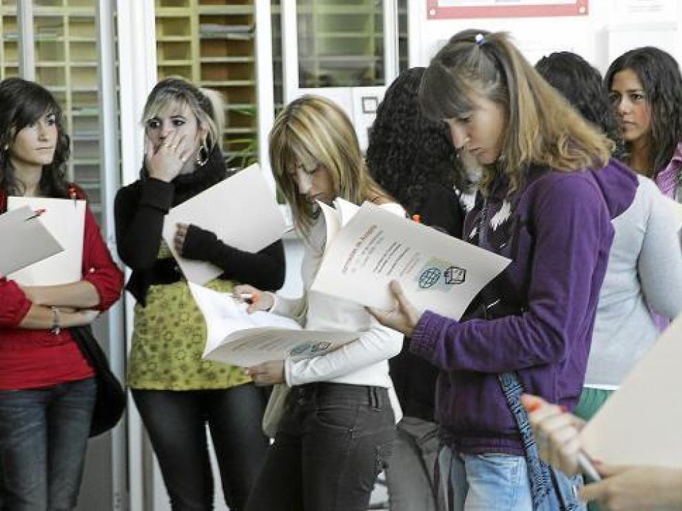 Los alumnos de primero tuvieron ayer en el campus las jornadas de acogida.