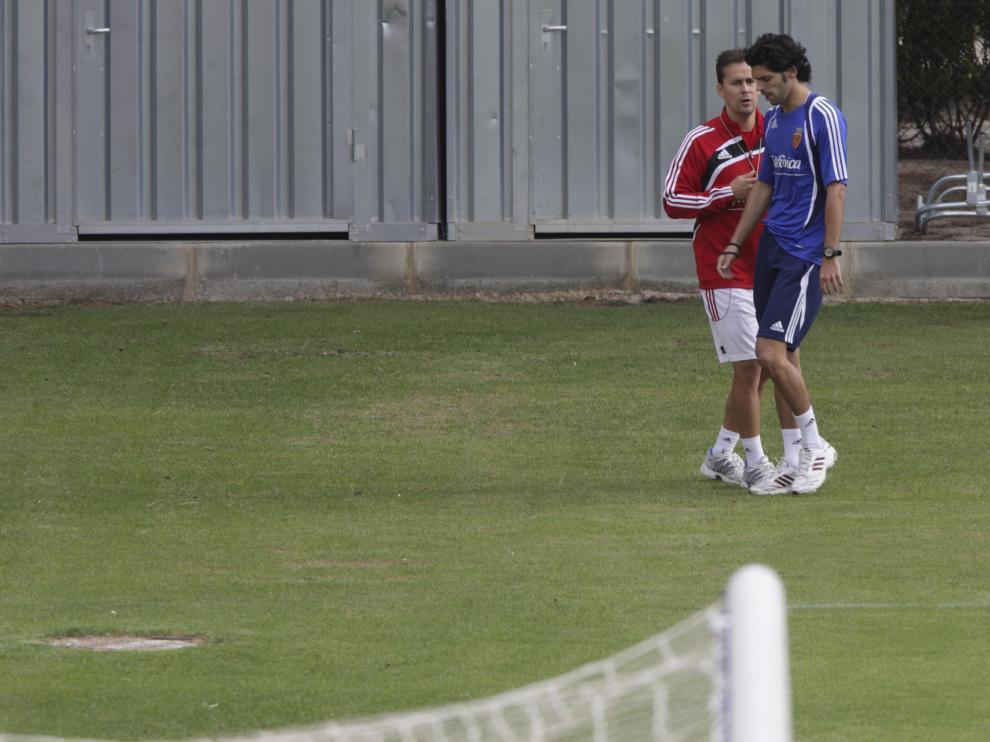 Ángel Lafita, entrena solo en la Ciudad Deportiva