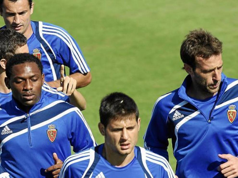 Songo'o, Paredes y Pulido corren por la Ciudad Deportiva.