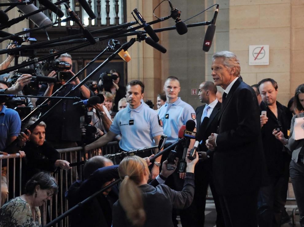 El ex primer ministro francés, Dominique de Villepin