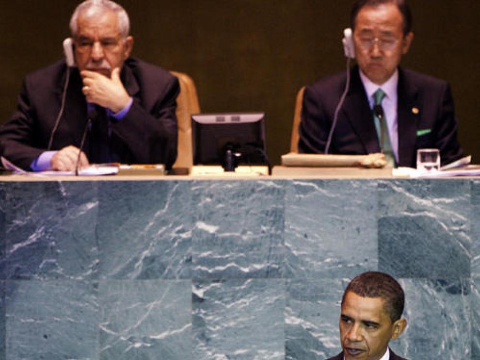 Obama, durante su discurso ante la ONU