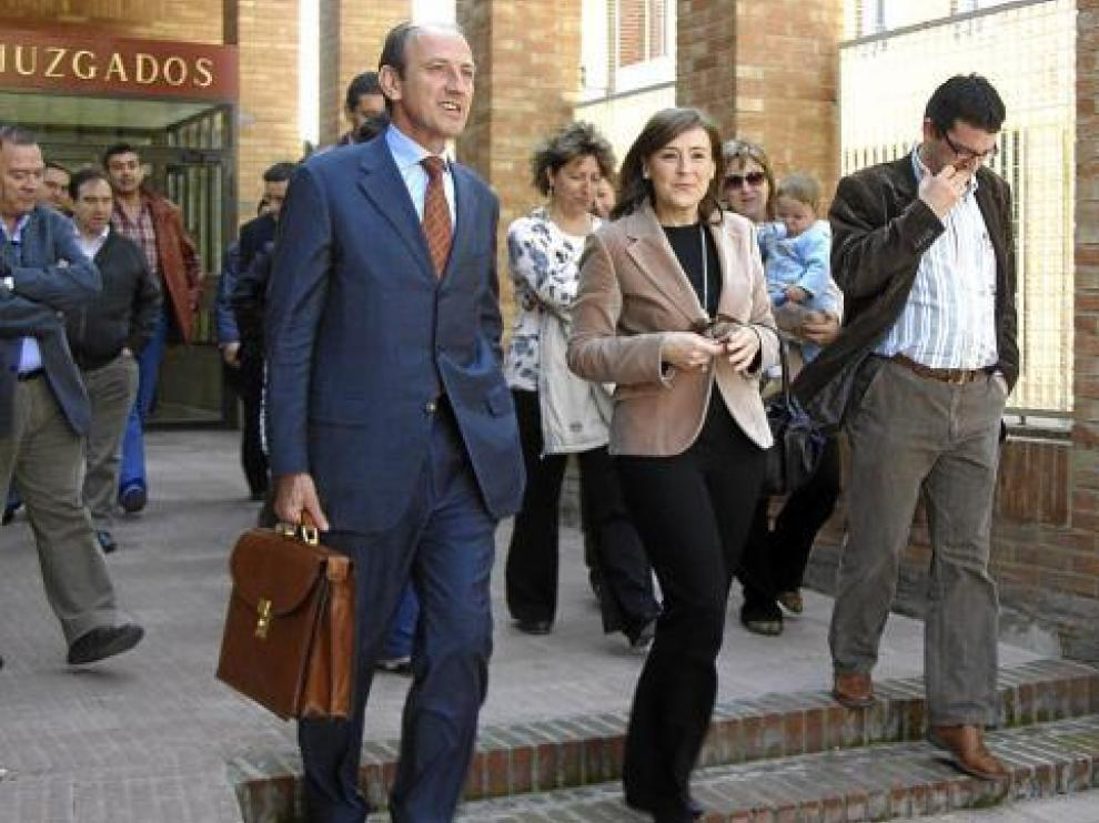 Ana Cristina Vera, saliendo de los juzgados de Tarazona en una fotografía de archivo.
