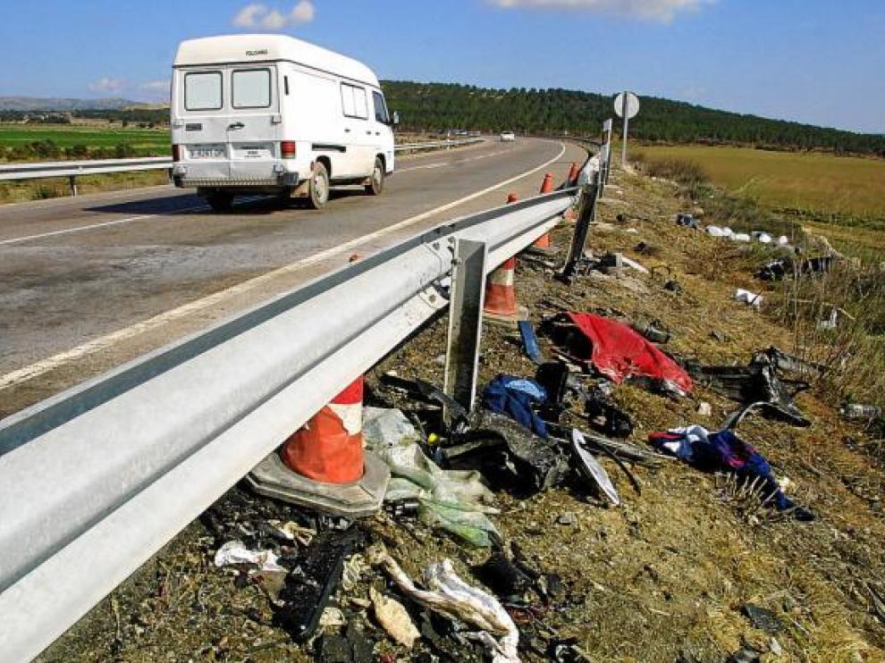 El accidente en el que murieron los tres zaragozanos y un vecino de Valencia se produjo en Barracas.