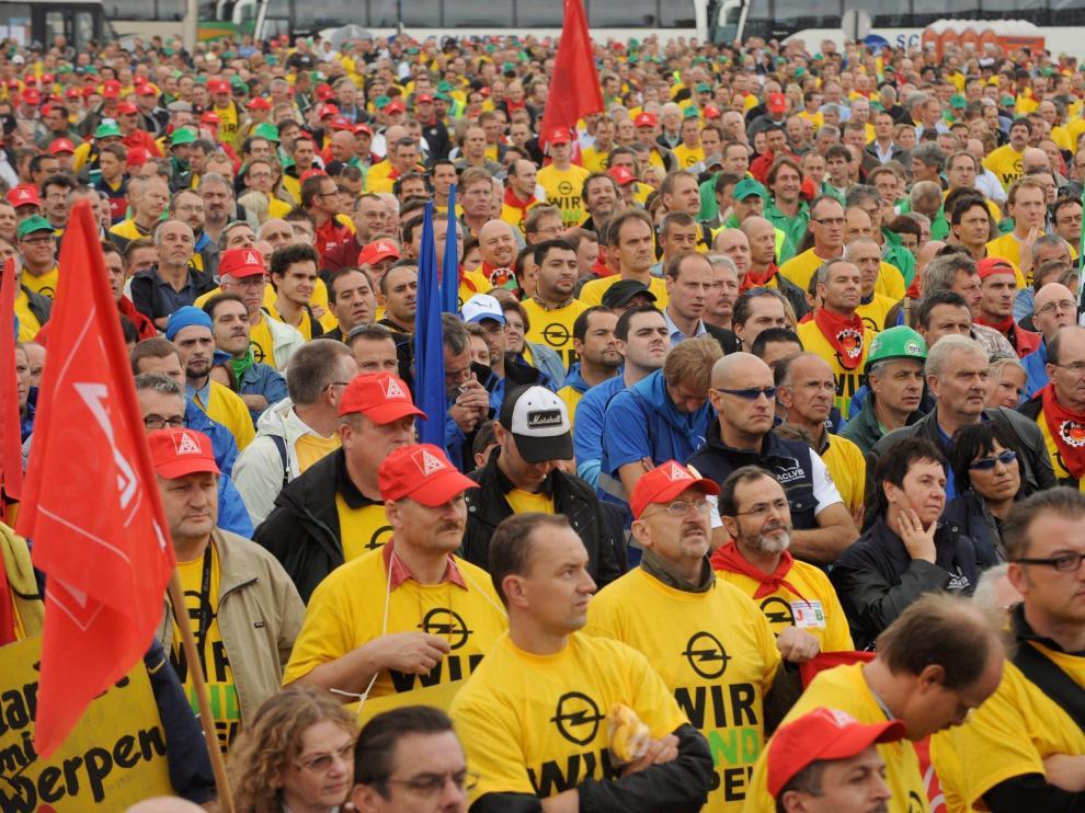 Protesta contra el plan de Magana en Amberes