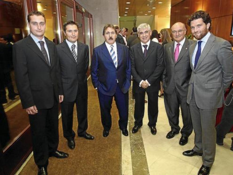 Los responsables de Podoactiva con Manuel Teruel, Antonio Flamenco, Carlos Carnicer e Íñigo de Yarza