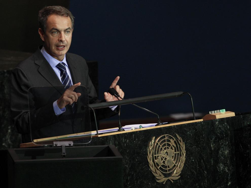 Zapatero, durante su intervención en la Asamblea General de la ONU