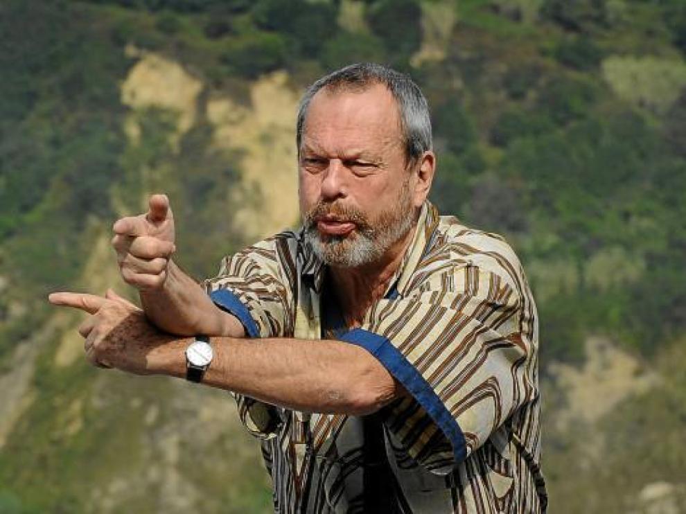 Terry Gillian presentó ayer en San Sebastián su película 'El imaginario del Dr. Parnassus'.